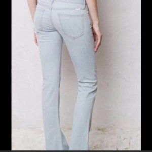 MOTHER The Runaway back stage pass flare jeans